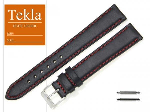 TEKLA 18 mm XL pasek skórzany PT68 czerwone szycie