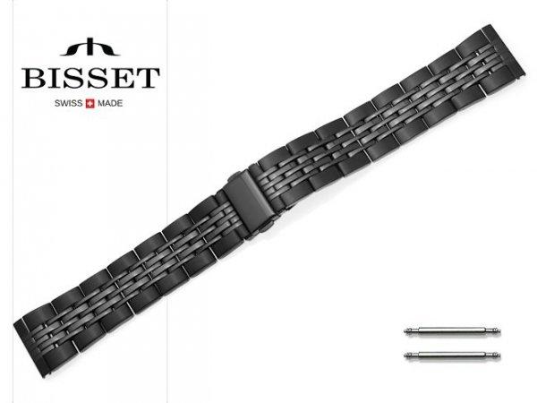 BISSET 20 mm bransoleta stalowa BR110 czarna
