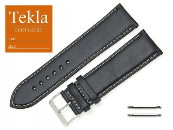 TEKLA 26 mm XL pasek skórzany PT68 białe szycie