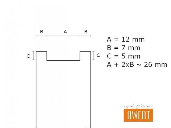 LORUS 26 mm oryginalny pasek RHG019X 951874