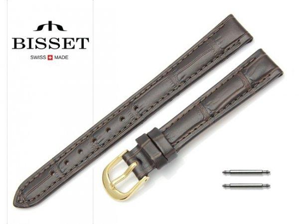 Pasek skórzany do zegarka 14 mm BISSET BS151 brązowy