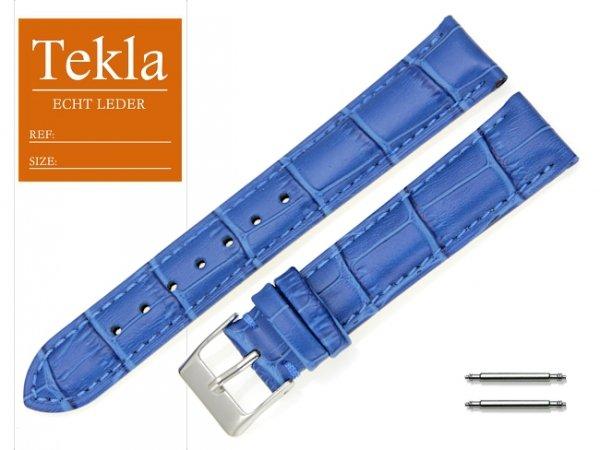 TEKLA 18 mm pasek skórzany PT25 nebieski