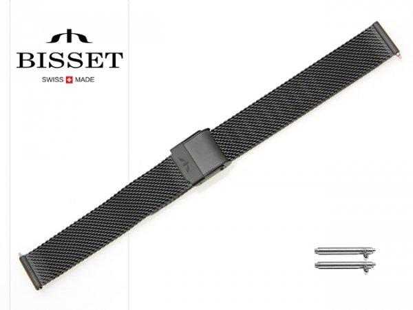 BISSET 14 mm bransoleta stalowa mesh BM101 czarna