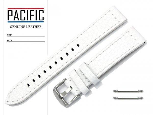 PACIFIC 18 mm pasek skórzany W45 biały