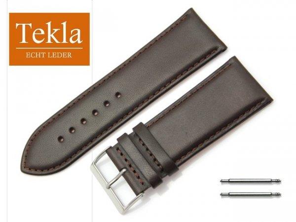TEKLA 28 mm pasek skórzany PT68 brązowy