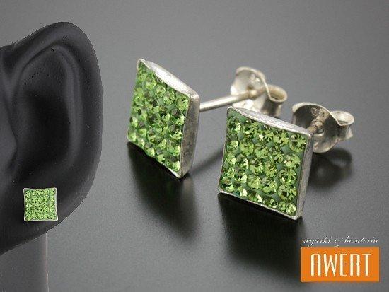 ALICJA GREEN kolczyki srebrne z kryształkami Swarovski