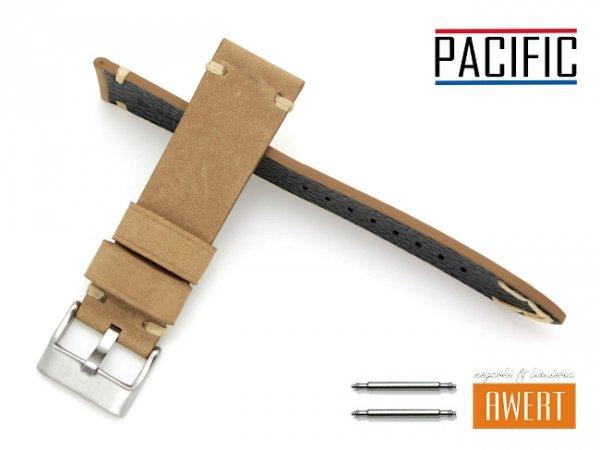 PACIFIC 20 mm pasek skórzany W93 brązowy W93-5WH-20