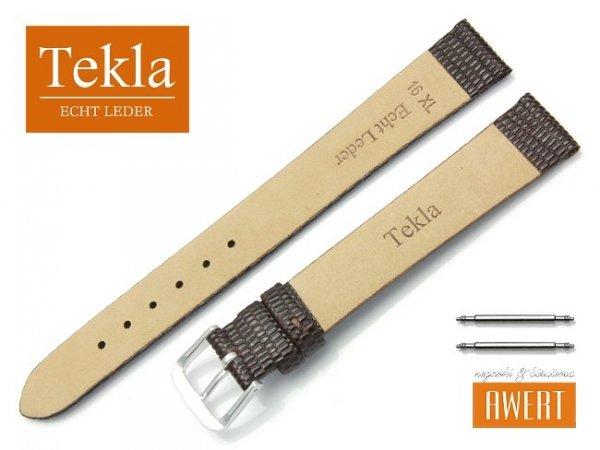 Pasek skórzany do zegarka 16 mm XL TEKLA PT34 brązowy