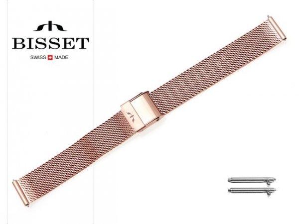 BISSET 14 mm bransoleta stalowa mesh BM101 złota
