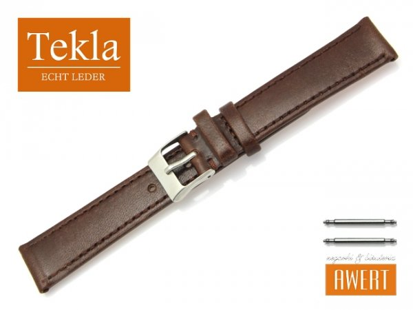 TEKLA 18 mm pasek skórzany PT69 brązowy