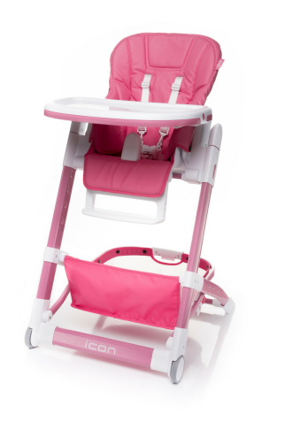 4 BABY Krzesełko dziecięce ICON pink