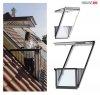 VELUX Dachfenster GDL Cabrio 2066 Dachbalkon  Holz Dachaustritt /Kiefer weiß lackiert ENERGIE PLUS Dachbalkon