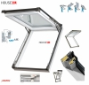 Dachfenster Kipp-Schiebefenster Okpol IGKV IGK E2 PVC Profile in Weiß - Öffnungswinkel bis 62° - Uw= 1,2 Wm²K - Ausstiegsfenster