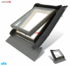 Ausstiegsfenster BALIO 45x73 - 45x55 cm für ungeheizte Räume, nach oben oder seitlich öffnend, BALIO gehört zum VKR Konzern wie ( VELUX , ROOFLITE ), mit integrated Eindeckrahmen, Skylight