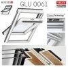 VELUX Dachfenster GLU 0061 3-fach-Verglasung Dachfenster Schwingfenster Kunststoffqualität mit Dauerlüftung ThermoTechnology