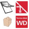 Dachfenster Roto R68C H200 (WDF R68C H) Schwingfenster aus Holz blueLine Comfort mit Wärmedämmblock