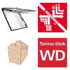 Dachfenster Roto Designo R89P H WD Klapp-Schwingfenster aus Holz blueTec Plus mit Wärmedämmblock