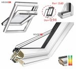 VELUX Dachfenster GLU 0064 3-fach-Verglasung Uw=1,0 ENERGIE Rw=35dB Schwingfenster Kunststoffqualität mit Dauerlüftung ThermoTechnology STANDARD PLUS neue Generation 2021
