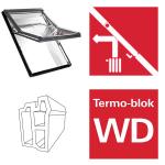 Dachfenster Roto Designo R65 K WD AL blueLine Schwingfenster aus Kunststoff  mit Wärmedämmblock