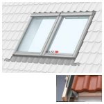 Doppelte Eindeckrahmen Velux EBZ um Einbau von Fenstern mit einem Abstand von 18 mm Für Profilfliesen mit einer Profilhöhe von bis zu 45 mm für Dachziegel aus Keramik, Beton und Metall