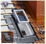 Dachluken Okpol IGWX+ E2 55x98 für Nutzräume Uw=1,2 Dachausstiegsfenster aus Kunststoff SOLID+ PVC - Ausstiegsfenster - Dachausstieg - Dachluke - Dachfenster