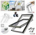 Dachfenster Fakro FTW-V U4 Schwingfenster 3-fach VERGLASUNG Uw: 1,1, aus weiß lackiertem Holz PU-Kunststoff-Lack (x2), Dauerlüftung V40P, topSafe-System, erhöhter Feuchteresistenz