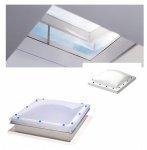 VELUX FLACHDACH -Fenster Oberelement Lichtkuppel Matt Polycarbonat  ISD 0110-Typ CFP / CVP / CXP / CSP