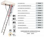 Bodentreppe OMAN MAXI U=0,7 Energiesparende Treppe aus Holz