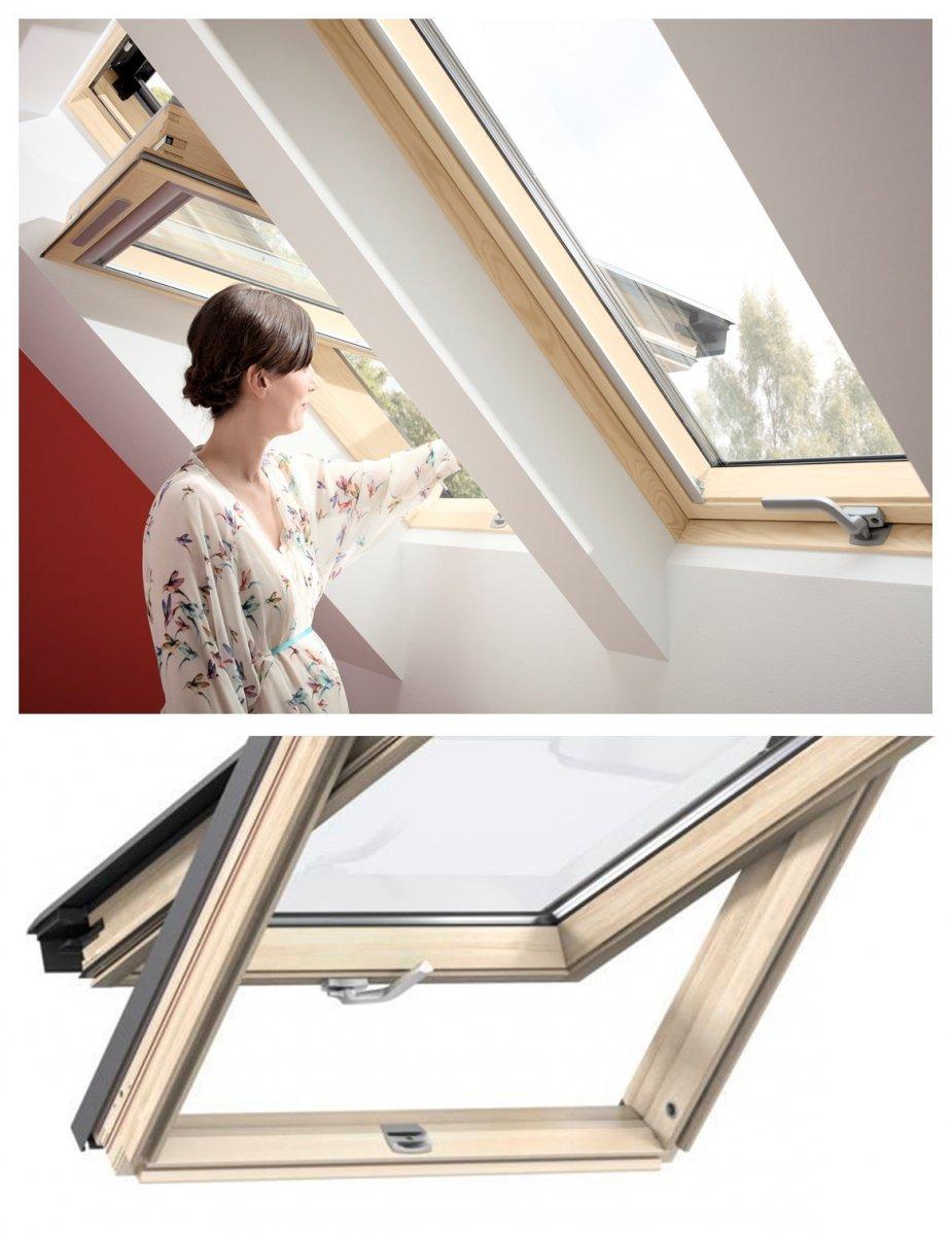 velux dachfenster gzl 1051b schwingfenster aus holz boden griff uw 1 3 thermo 2 fach veglasung. Black Bedroom Furniture Sets. Home Design Ideas