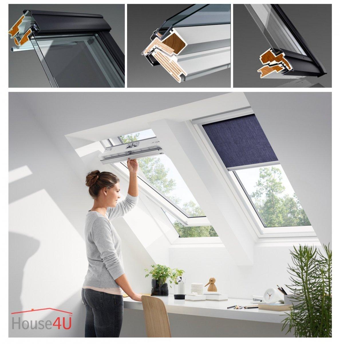 velux dachfenster ggu 0050 uw 1 3 schwingfenster aus. Black Bedroom Furniture Sets. Home Design Ideas