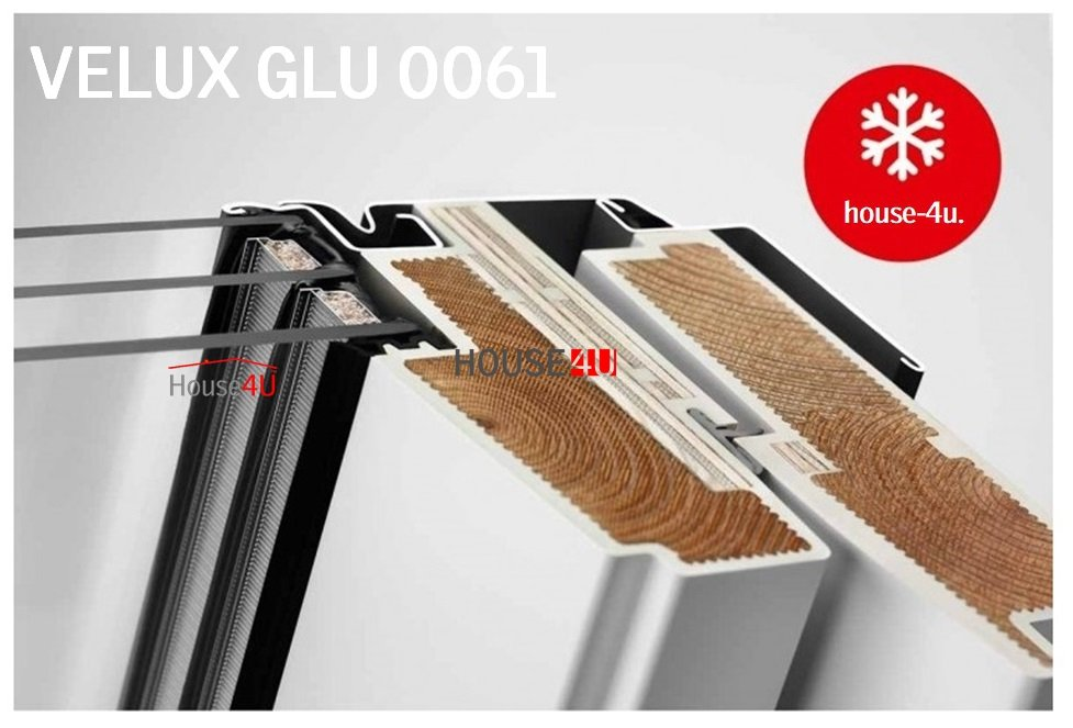 velux dachfenster glu 0061 3 fach verglasung uw 1 1. Black Bedroom Furniture Sets. Home Design Ideas