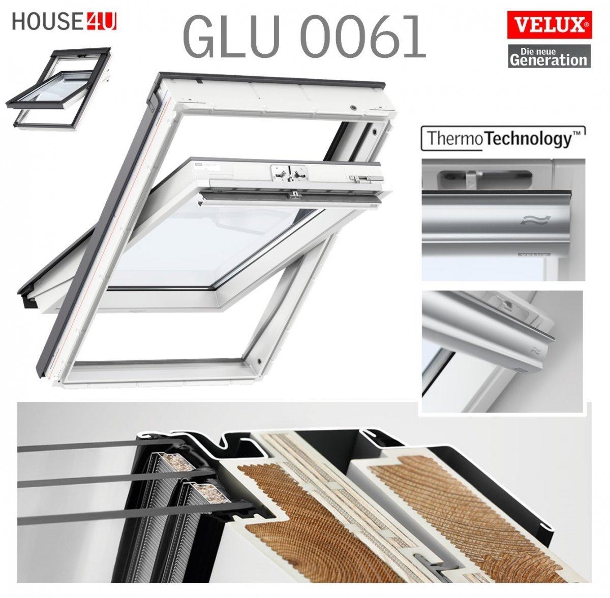 Velux Dachfenster Glu 0061 3 Fach Verglasung Uw 1 1 Schwingfenster Kunststoffqualitat Mit Dauerluftung Thermotechnology Kunststofffenster Schwingfenster Dachfenster