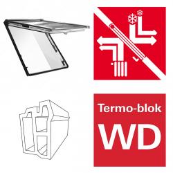 Dachfenster Roto Designo R89G K WD Klapp-Schwingfenster aus Kunststoff blueTec mit Wärmedämmblock