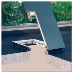Versand 48H Flachdachausstieg Fakro DRL 70x120 Uw=0,67 Dachluke - Wärmedämm Schachtfenster - Fenster mit einer Kuppe - Raus aufs Flachdach mit dem neuen Flachdach-Ausstieg DRL