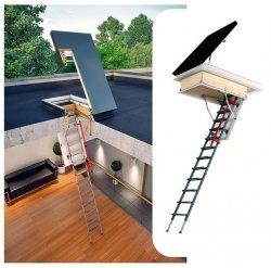 Flachdach-Ausstiegsfenster FAKRO DRL mit Bodentreppen LML Lux  DRL U=0,67 W/m²K*