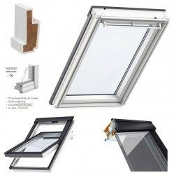 VELUX Dachfenster GGU 0070 THERMO Schwingfenster aus Kunststoff 2-fach - Verglasung _ _70 ESG außen, VSG innen