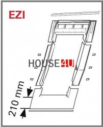 Eindeckrahmen Roto EDR ZIE für profilierte Eindeckmaterialien ohne WD