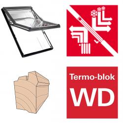 Dachfenster Roto Designo R69P H Schwingfenster aus Holz blueTec Plus mit Wärmedämmblock