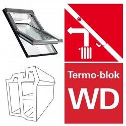 OUTLET: Dachfenster Roto R4 Designo WDF R45 114x140  11/14 K WD AL  Uw=1,3  blueLine Schwingfenster aus Kunststoff mit Wärmedämmblock
