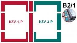 Kombi-Eindeckrahmensystem Fakro KZV B2/1 für profilierte Eindeckmaterialien
