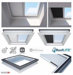 Rooflite Solarbetriebenes elektrisches Verdunkelungsrollo FSA für Flachdachfenster