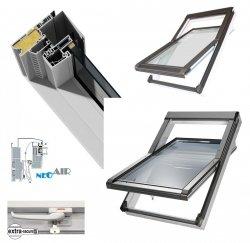 OUTLET: Dachfenster Okpol BGOV 55x98 VGO E2 (PVC) Uw= 1,3 Schwingfenster Kunstoffenster PVC Profile in Weiß