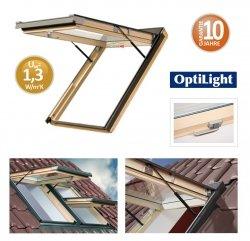 Dachfenster OptiLight VK Klapp-Dachfenster Uw=1,3 mit Klappfunktion aus Holz (mit Dauerlüftung) 78x98 78x118 78x140