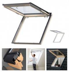 VELUX Dachfenster GTU 0050 Uw=1,3 Wohn- und Ausstiegsfenster mit Klapp-Schwing-Funktion aus Kunstoff  THERMO standard, Aluminium