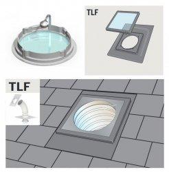 """Tageslicht-Spot VELUX TLF 0K14 S00C01 2m flexiblem Rohr +ZTL, dünne Eindeckmaterialien Durchmesser von: 14"""" / 35cm"""