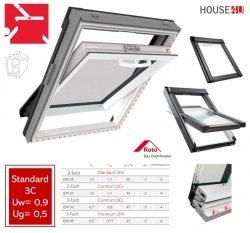 Roto Q4 Comfort Schwingfenster aus Kunststoff Q-4 K3C P5 3-fach PVC Uw= 0,9 Aluminium