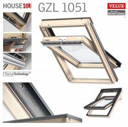 VELUX Dachfenster GZL 1051 aus Holz Schwingfenster Uw= 1,3 Thermo 2-Fach-Veglasung Holz klar lackiert VELUX ThermoTechnology™ Neue Generation 2018 - Alternative zum VELUX GGL