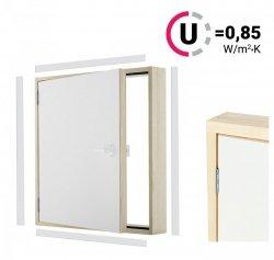 Versand 48H Kniestocktür DK EXTRA 100x70 thermoisolierte Uw = 0,85 W/m²K Drempeltür mit Wärmedämmung
