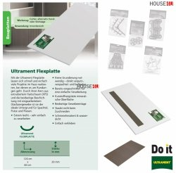 Flexplatte 60 x120 cm x 20mm von Rundungen Bauplatte Trockenbau Trockenbau XPS Glasfasergewebe, Schimmelresistent & Wasserresistent, Extrem leicht, für die Anwendung im Innen- und Außenbereich, Wedi Byggeplade Kreativbauplatte