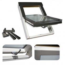Dachfenster Optilight VB-W Weiß lackiert Schwingfenster Holz
